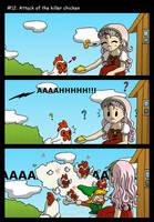 Attack of the killer chicken by Neko343
