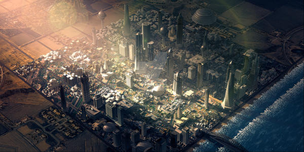 3d Future City by ErdemCetinkaya