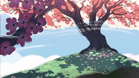 Steven Universe - Sakura Tree by Keluso