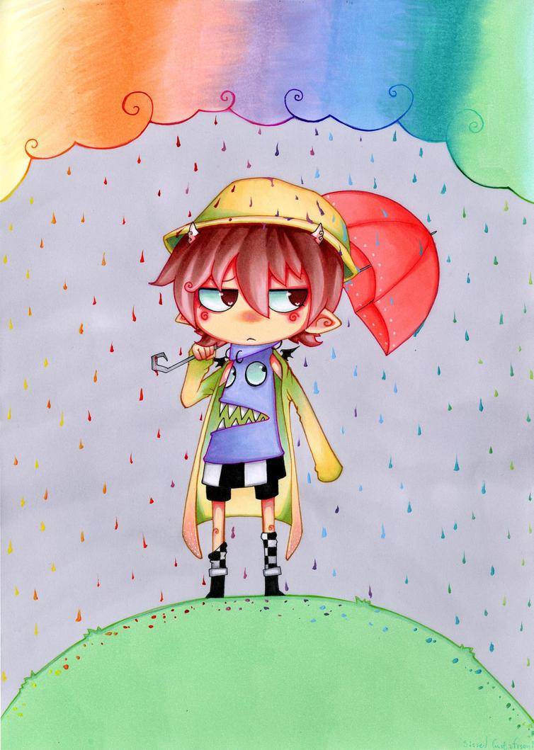 rainbow rain by Valerei