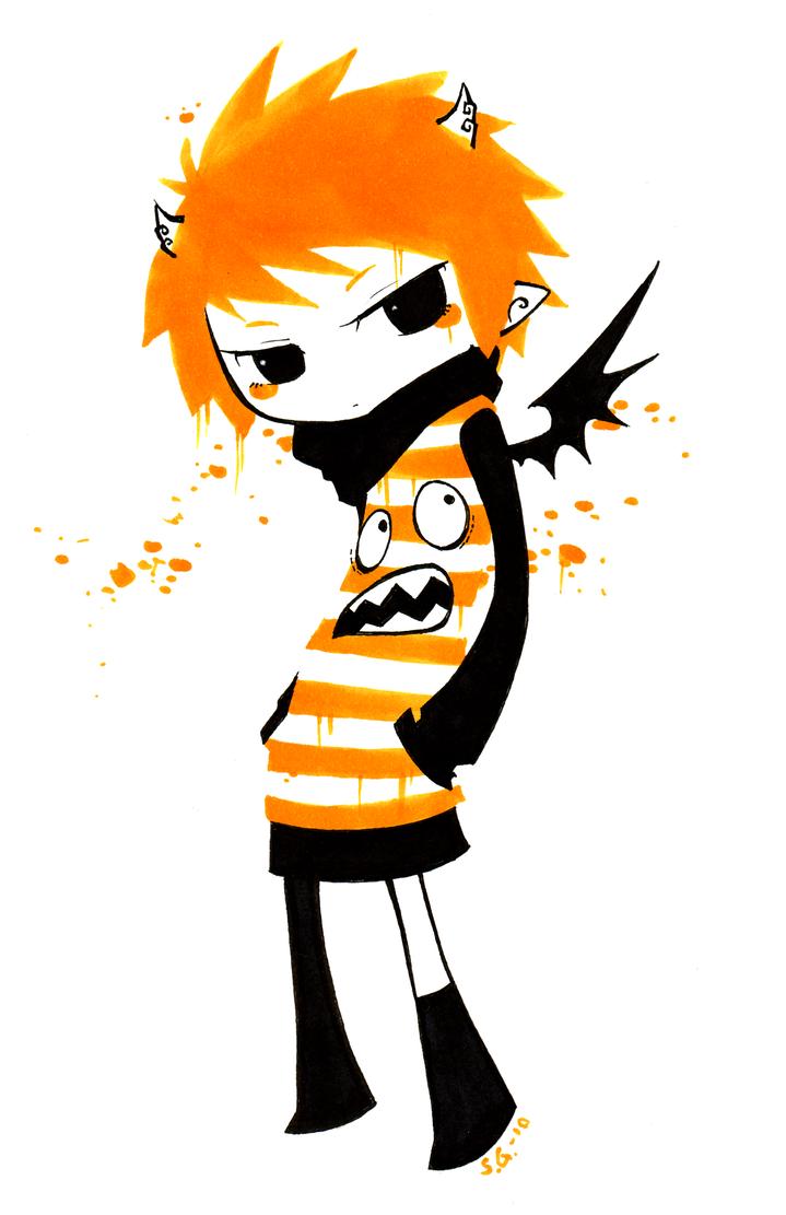 just something orange by Valerei