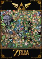 Zelda 30th anniversary by Valerei