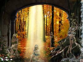 Earth Goddess of Four Seasons by chenoasart