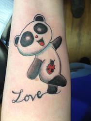 My Panda Tattoo on my left forearm by chenoasart