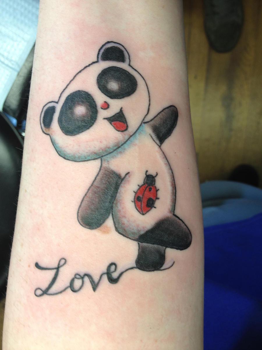 My Panda Tattoo On Left Forearm By Chenoasart DeviantArt