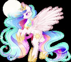 Princess Celestia by Clefficia