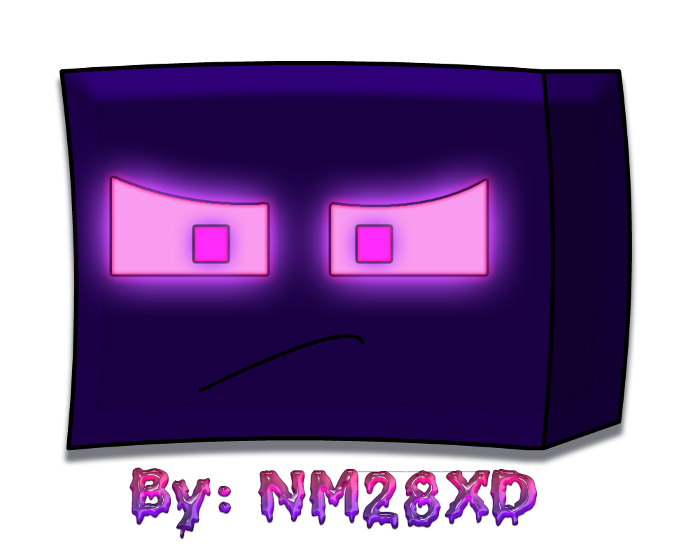 Minecraft Enderman Head By Nm28xd By Ninjaman28xd On