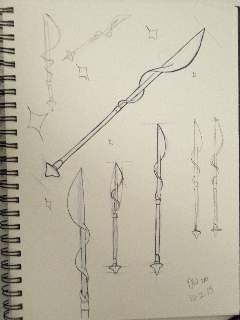 Pearl's Spear INKTOBER DAY 2 by DYW14