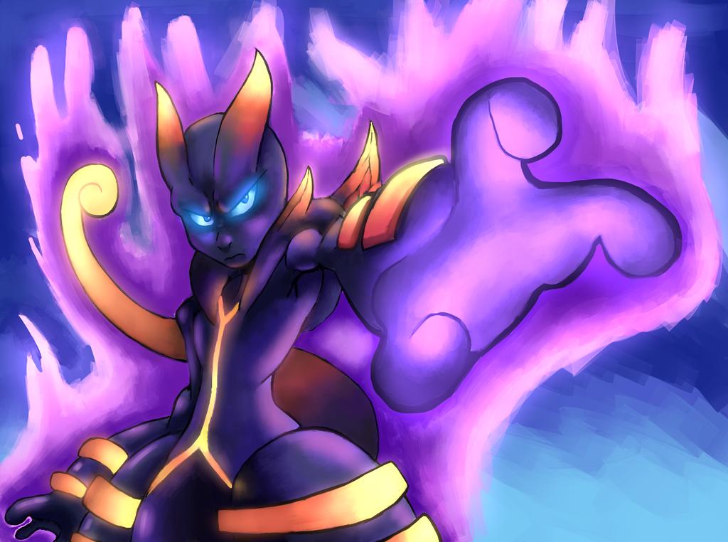 Shadow Mega Mewtwo X by DYW14
