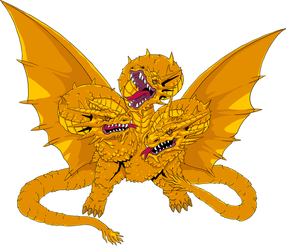 King Ghidorah by IZZARCHRON