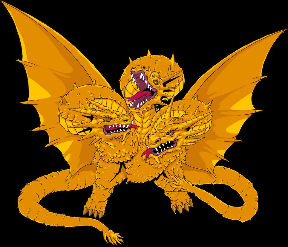 King Ghidorah by IZZARCHRON