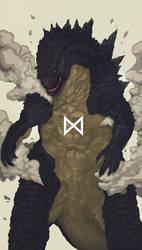 Godzilla 2014 by IZZARCHRON