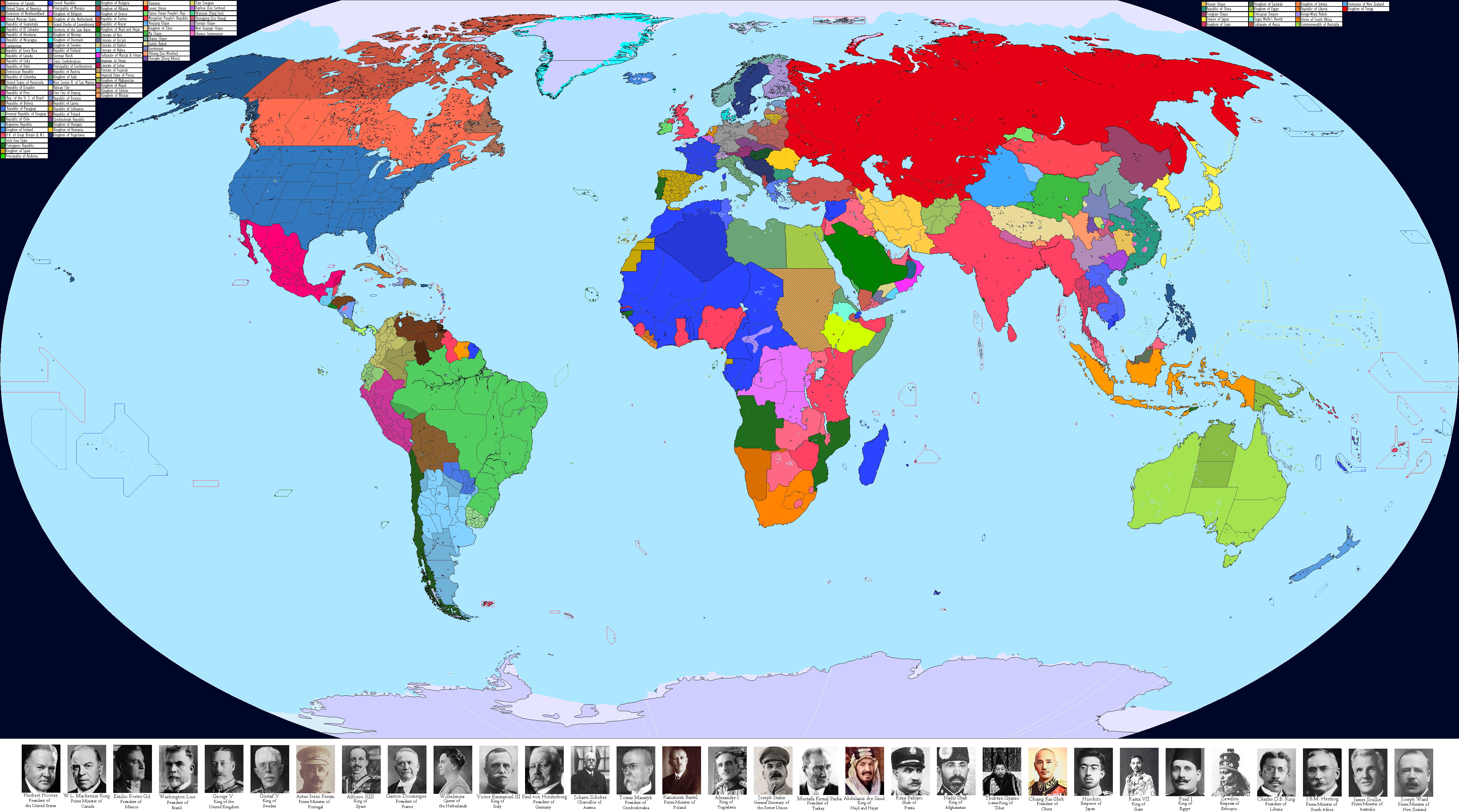 Map Of Spain 1930.1930 World Map By Crazy Boris On Deviantart