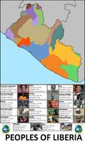 Liberia ethnic map