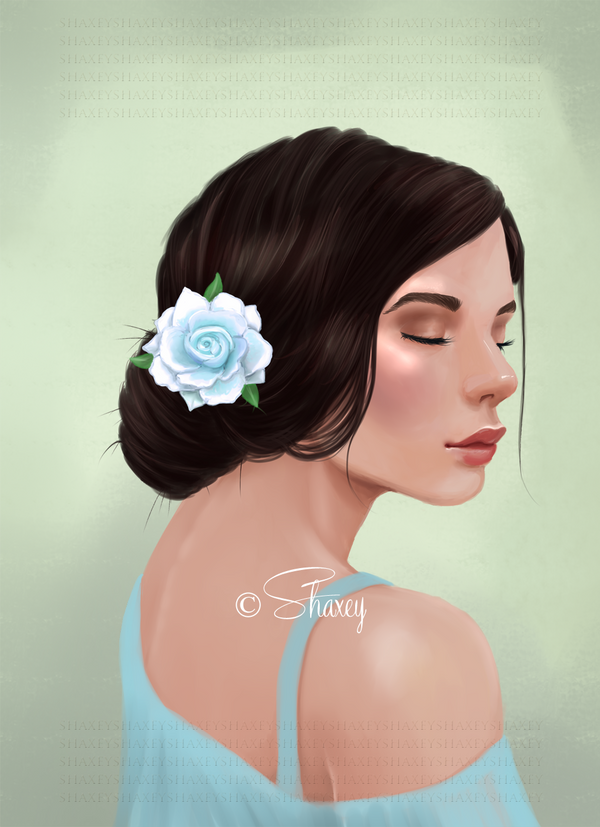 Lady with a rose by Shaxey