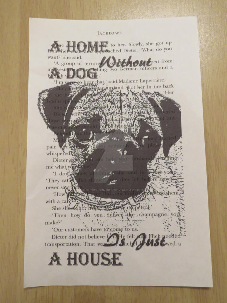 Book art print Pug Dog Slogan by huggy-bunnies on DeviantArt