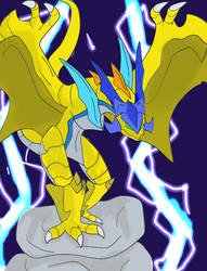 Yellow Wyvern by J0N0S