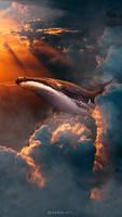 Whale on sky (Wallpaper)