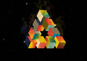 Impossible Triangle in Space by Philipee