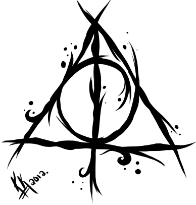 My Deathly Hallows Tattoo Design by TheVengefulGeek