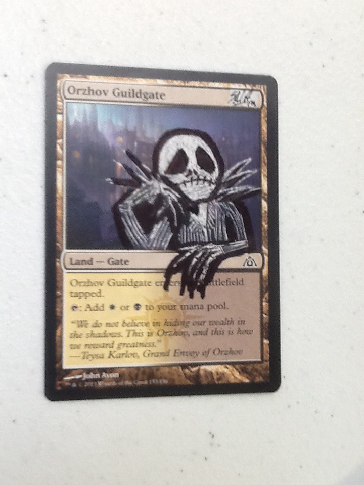 Mtg Altered Art Nightmare Before Christmas By Snhoward On Deviantart