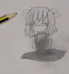 A chibi girl sketch
