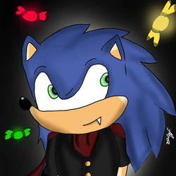 Happy Halloween with Vampire Sonic!