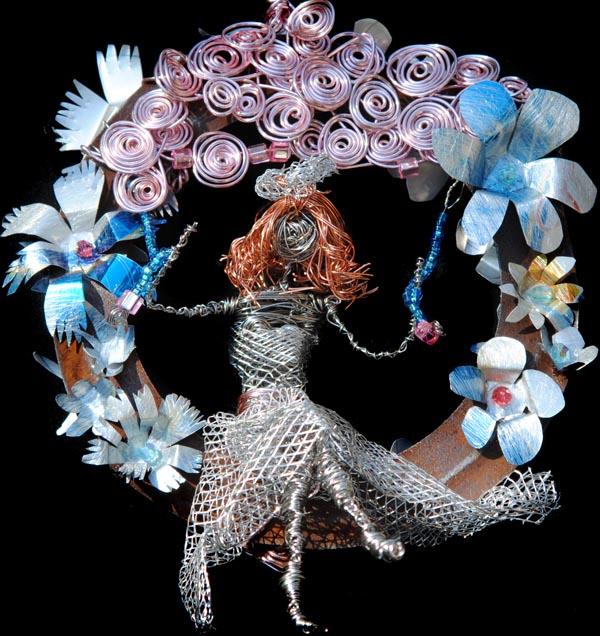 Wire Flower Girl by irishcompass