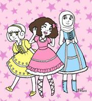 Sweet Lolita gang by Hanna-Pirita