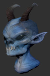 Blue Imp by GrayGinther
