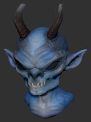 Blue Imp 02 by GrayGinther