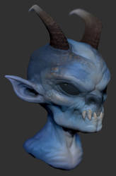 Blue Imp 03 by GrayGinther