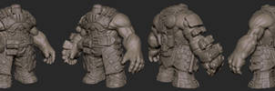 Darksiders II Forge Brother Zbrush Model by GrayGinther