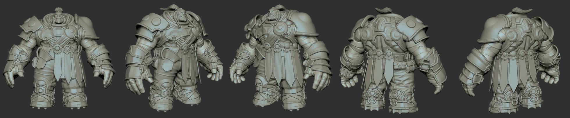 Darksiders II Warrior Zbrush Model