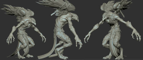 Darksiders II Sychophant Zbrush Model