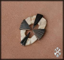 Damask bonecross pendant