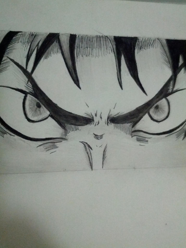 how to draw angry eyes