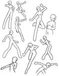 Female action poses