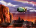 Airship over Mars