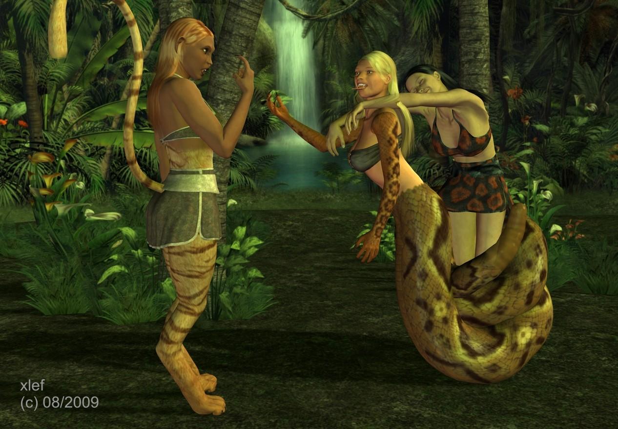 Kaa Shanti and Mowgli