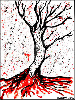Inktober: Day 18 // The Tree of the Dead