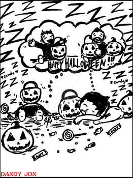 Spooktober 31 (Bonus): Chibi Candy Coma