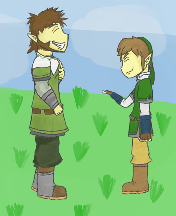 Link and Eagus by JabuJabule