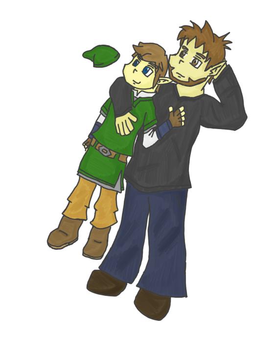 Link and Eagus...again by JabuJabule