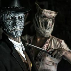 SkullFace (metalgearsoliV) and Nurse (silent hill) by MichCosplay
