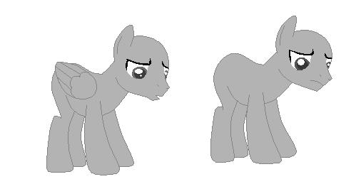 Base! sad horsies by greaserbeast