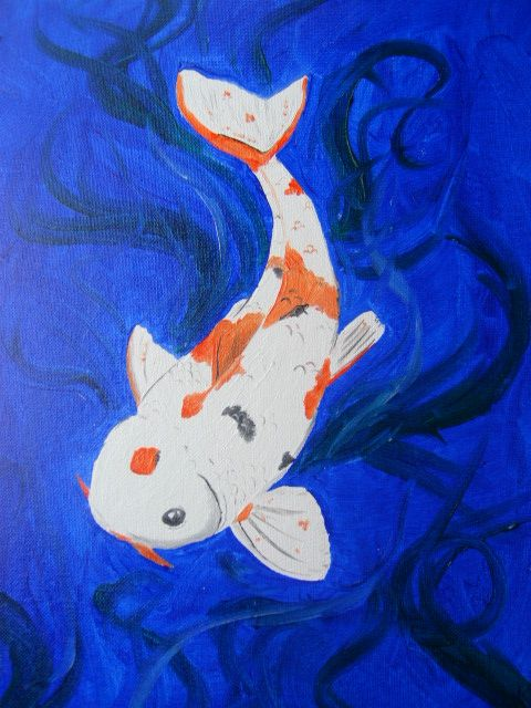 Koi oil painting by baby girl82 on deviantart for Baby coy fish
