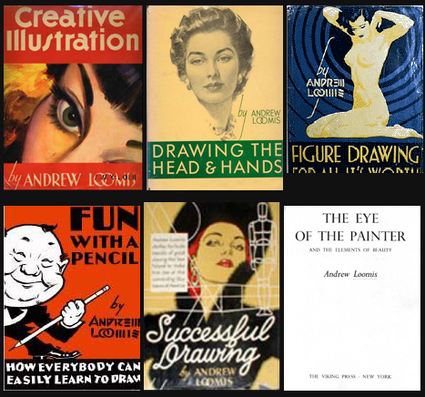 [Image: Andrew_Loomis_books_by_QuicheLoraine.png]