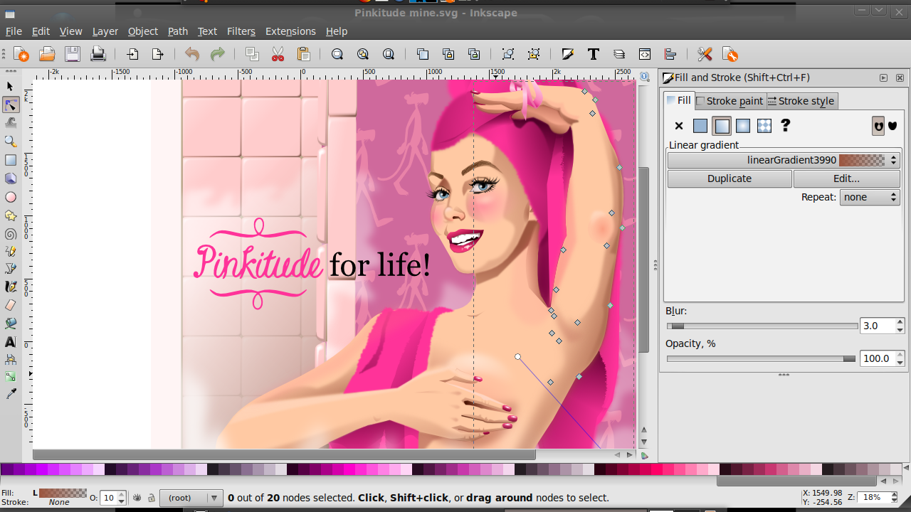 Pinkitude by QuicheLoraine was the Grandprize Winner of the Pinkitude for Life