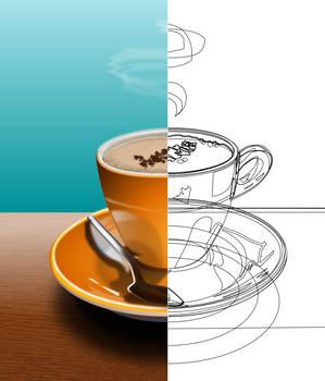 coffee cup half-n-half
